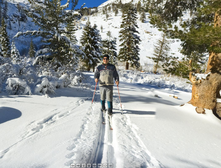 Skiing above Independence